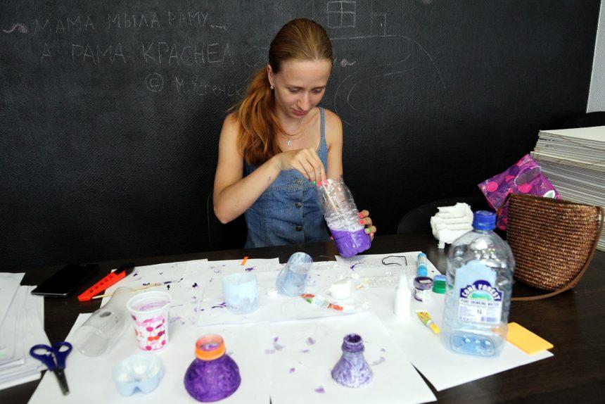 Ольга Глебова поделки из мусора вторсырьё