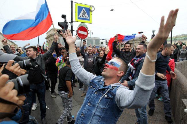 фанаты болельщики сборной России ЧМ-2018