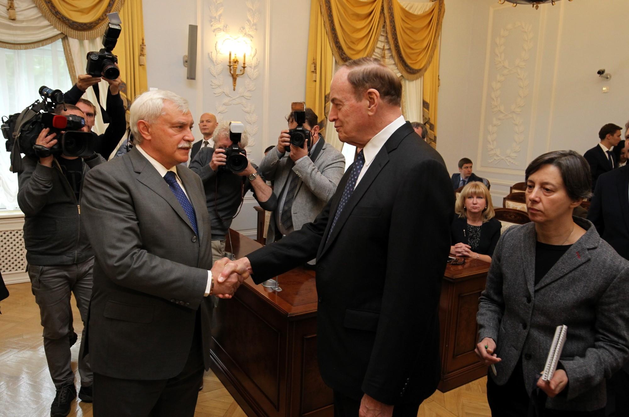 Смольный встреча с сенаторами США Ричард Шелби Георгий Полтавченко