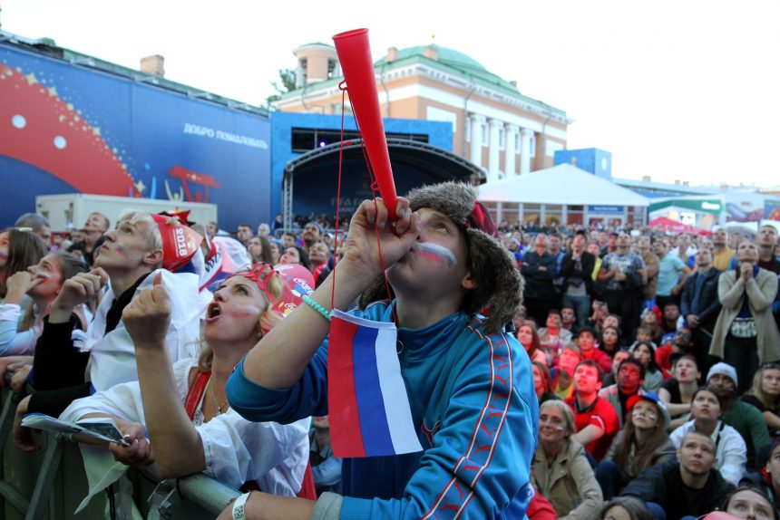 На Конюшенной площади открылась фан-зона для болельщиков Евро-2020