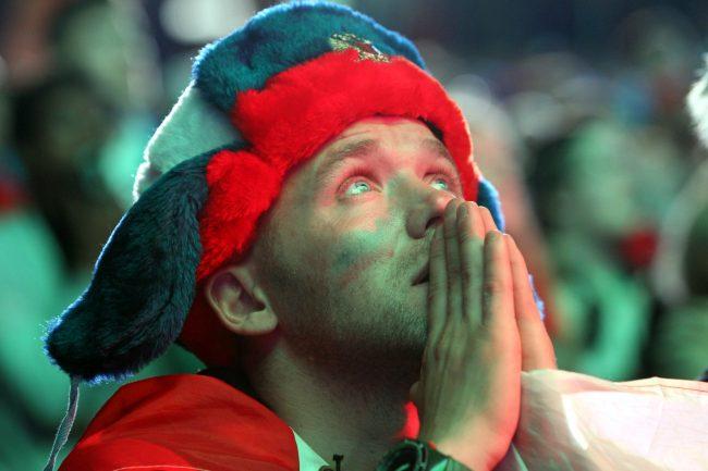 ЧМ-2018 футбол матч Россия Хорватия болельщики фанаты фанзона ушанка