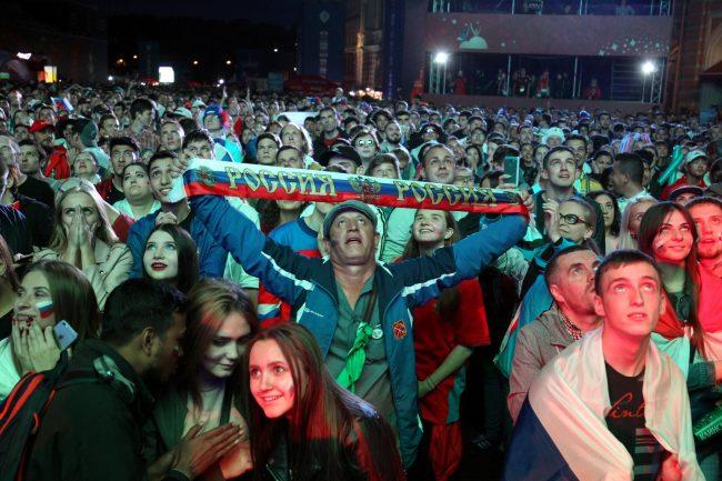 ЧМ-2018 футбол матч Россия Хорватия болельщики фанаты фанзона