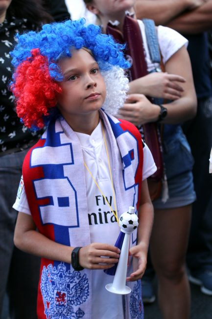 ЧМ-2018 футбол ребёнок-болельщик фанаты