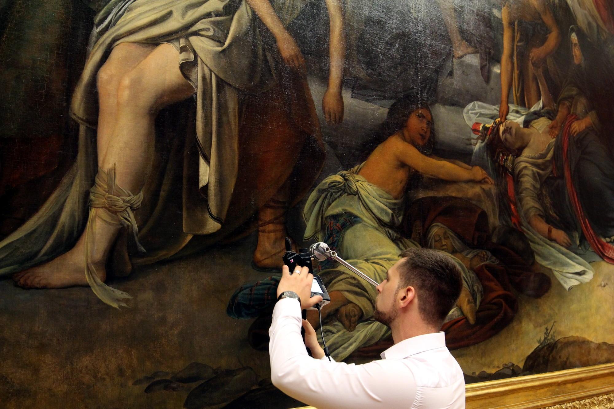 Русский музей реставрационная лаборатория картина Фёдора Бруни Медный Змий