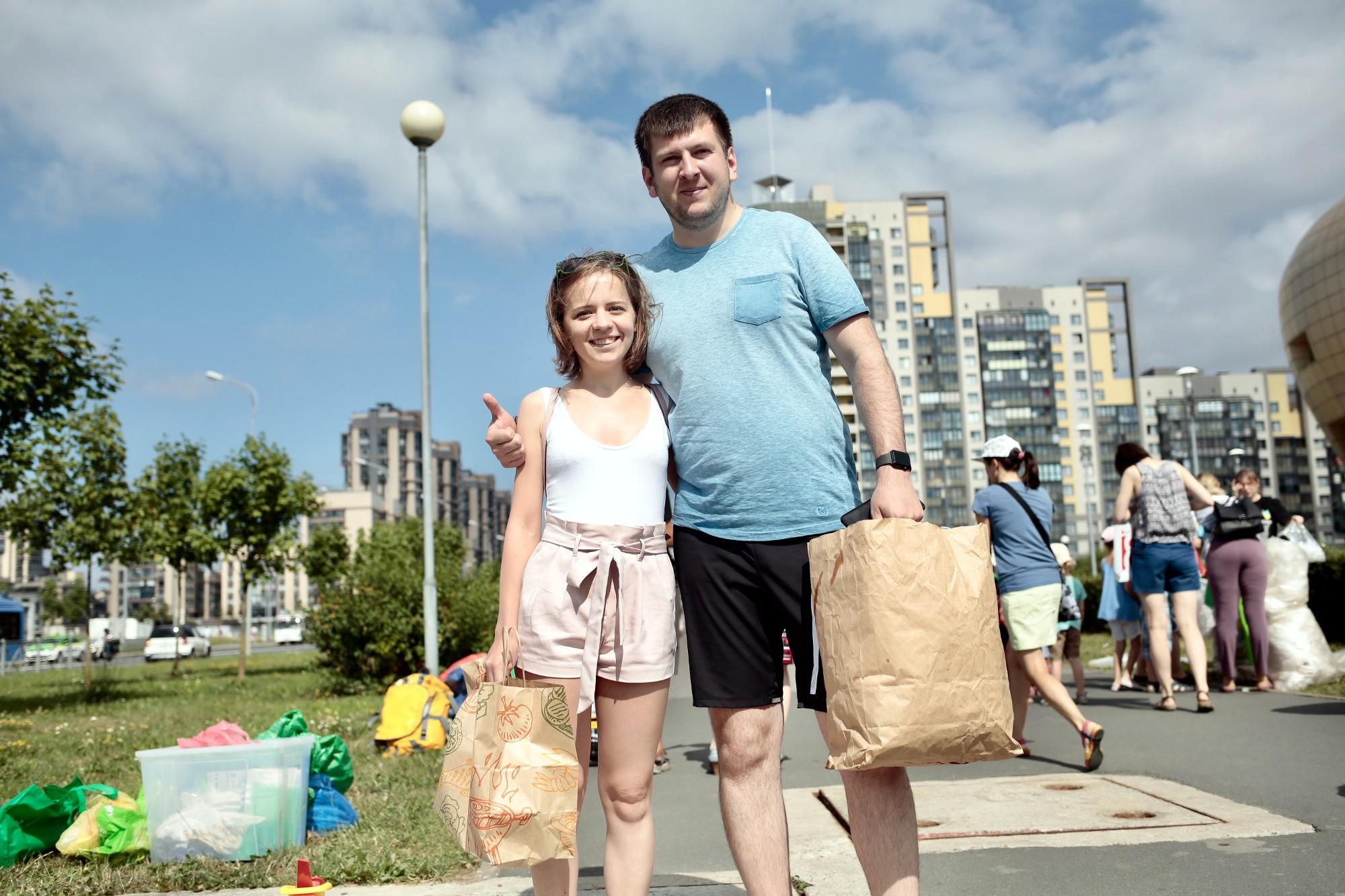 раздельный сбор вторсырья опрос диалоги на улицах Денис и Кристина