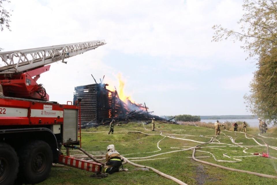 Успенская церковь Кондопога пожар уничтожение объекта культурного наследия
