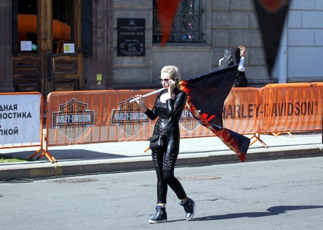 мотофестиваль Harley Days девушка