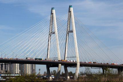 вантовый Большой Обуховский мост КАД кольцевая автодорога