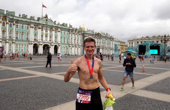 лёгкая атлетика бег полумарафон Северная столица спортсмен