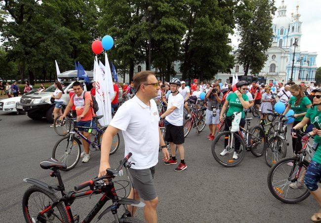 велосипедисты велопробег день строителя Сергей Макаров КГИОП
