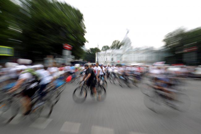 велосипедисты велопробег день строителя