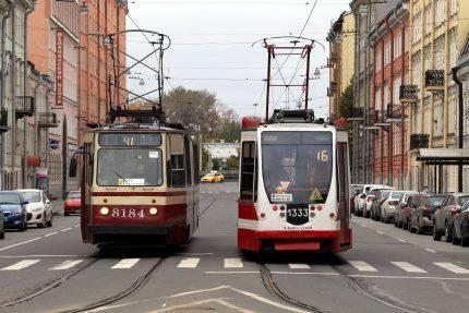 трамвай трамваи 16 и 41