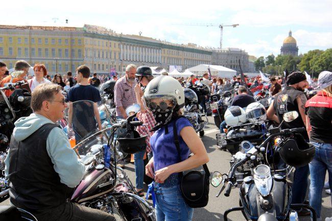 мотофестиваль Harley Days мотоциклисты байкеры Дворцовая площадь
