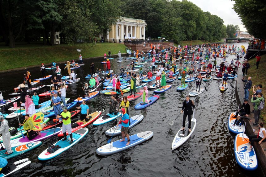 фестиваль Фонтанка SUP SUP-серфинг