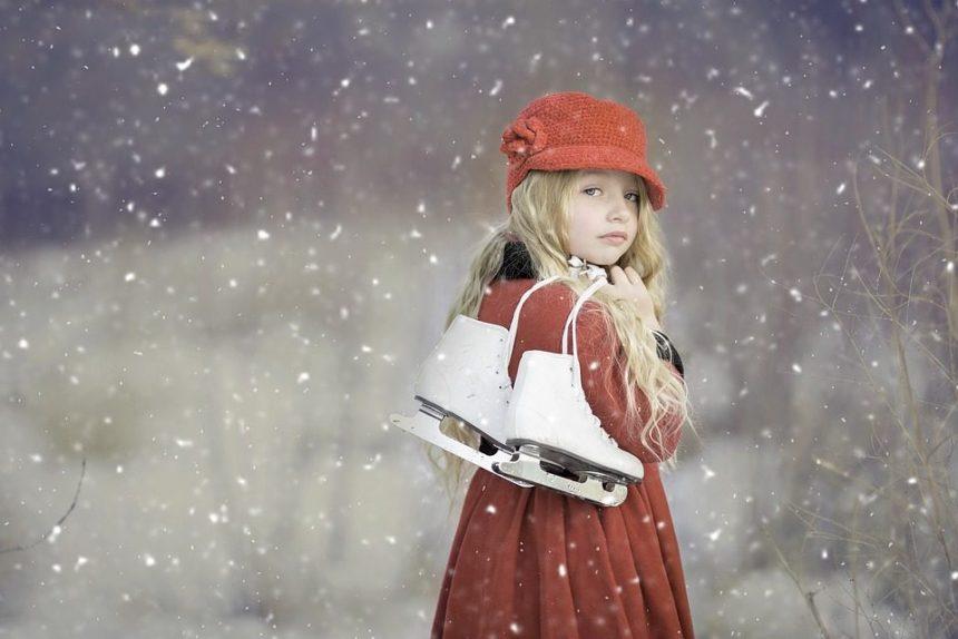 коньки ребенок девочка зима фигурное катание лёд