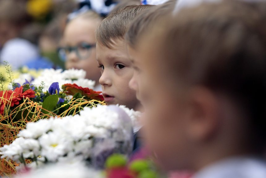 день знаний 1 сентября школа 428 дети школьники первоклассники