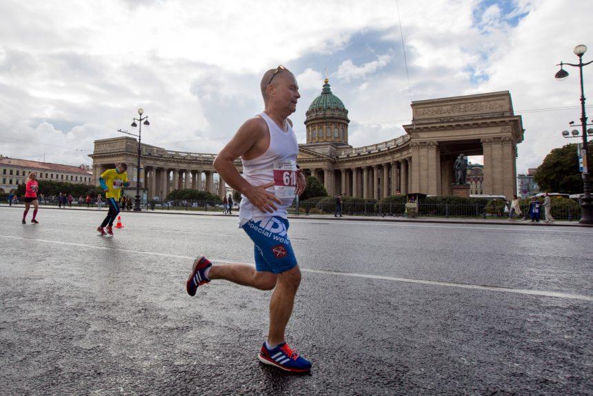 лёгкая атлетика спорт бег пробег Пушкин - Петербург Андрей Чепакин