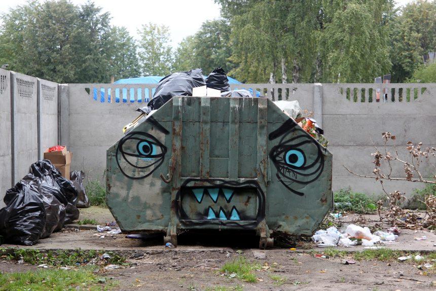 мусорный бак отходы свалка граффити