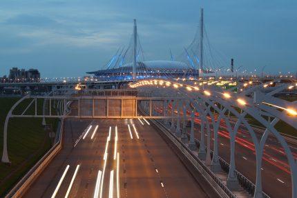ЗСД Западный скоростной диаметр стадион на Крестовском Зенит-Арена