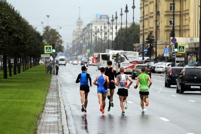 лёгкая атлетика спорт бег пробег Пушкин - Петербург