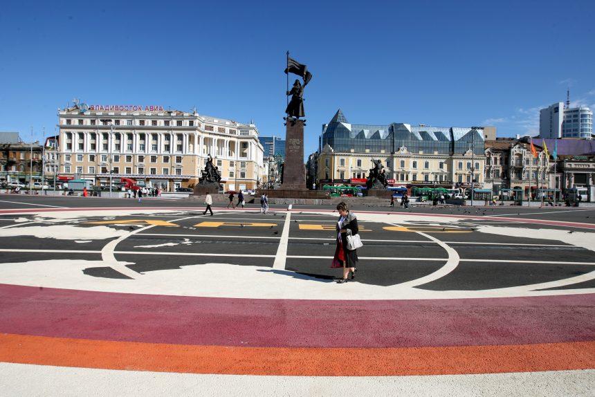 Приморский край Владивосток памятник борцам за власть советов