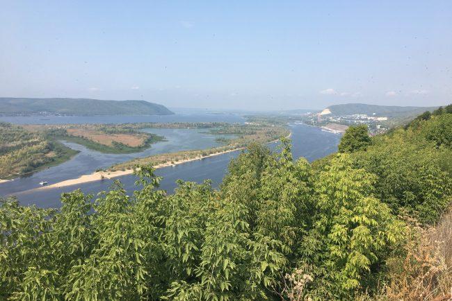 самара волга река пейзаж