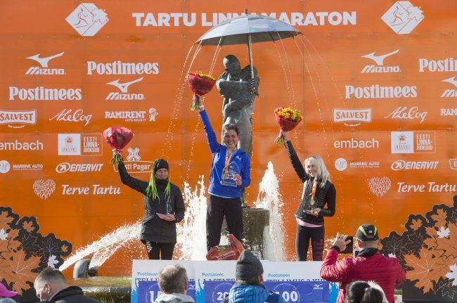 марафон Тарту лёгкая атлетика бег спорт награждение победители