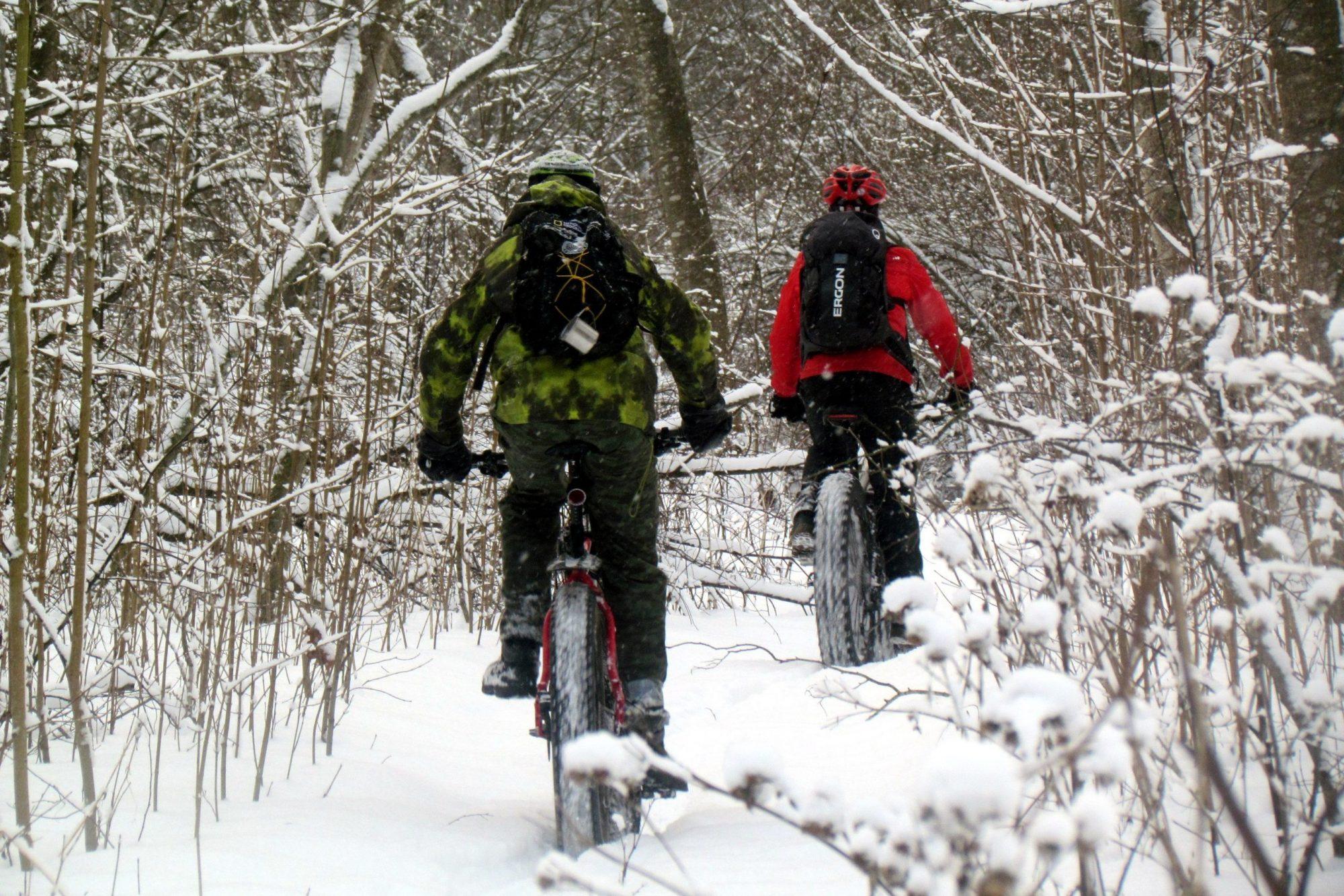 Снег велосипед зима