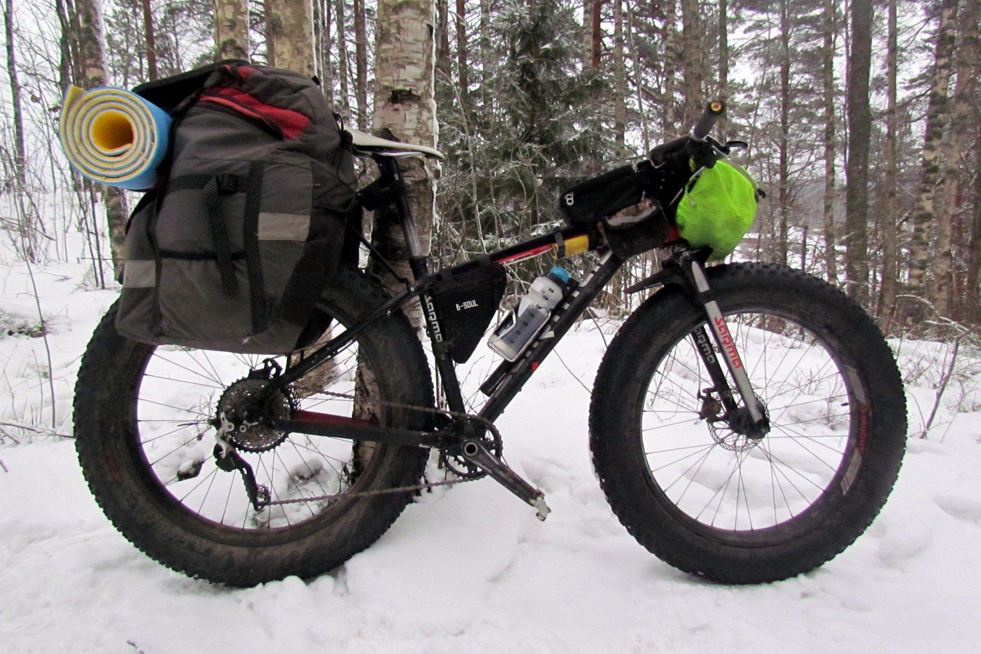 велосипед зима