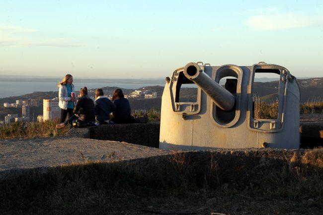 Владивостокская крепость гора Холодильник орудия артиллерия пушки