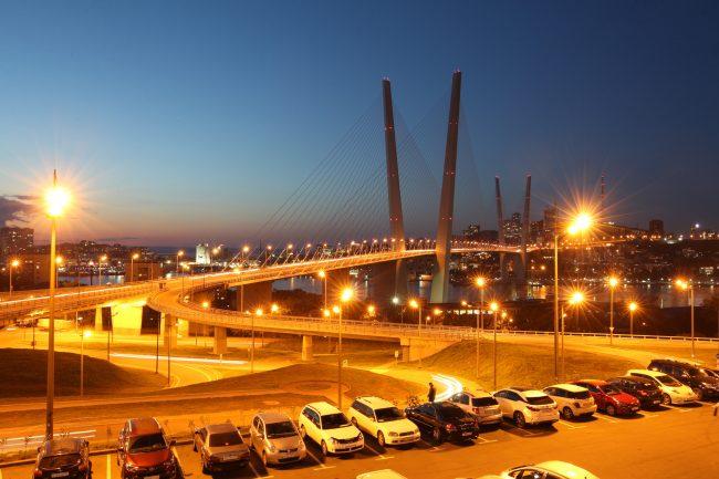 Владивосток мост через Золотой Рог