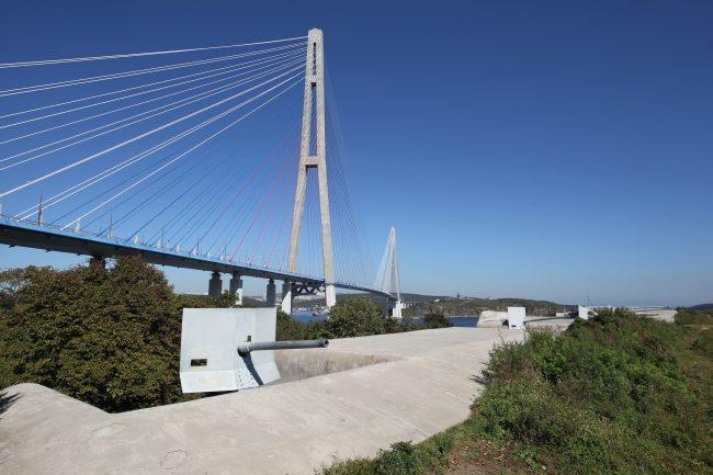 Владивосток пролив Босфор Восточный Русский мост Новосильцевская батарея