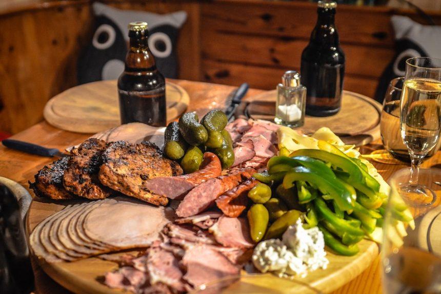колбаса, ветчина, мясо, еда