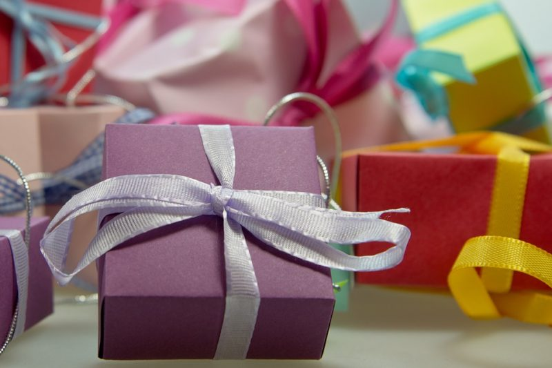 подарок коробка праздник день рождения новый год