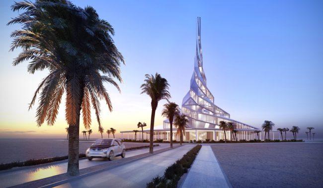 Центр инноваций в солнечной энергетике имени шейха Мохаммеда Бен Рашида Аль-Мактума Дубай современная архитектура