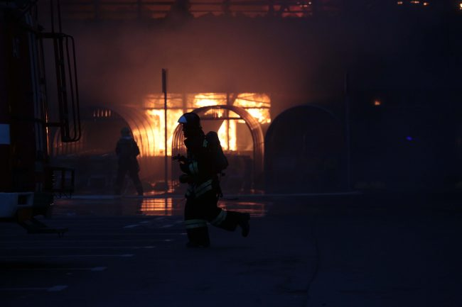 лента, пожар, пожарные, мчс