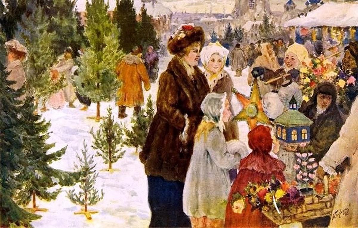Колядки, зимние забавы и визиты к начальству: как отмечали Рождество сто лет назад