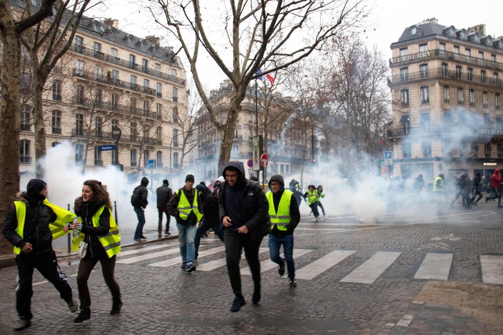 жёлтые жилеты акция протеста Франция