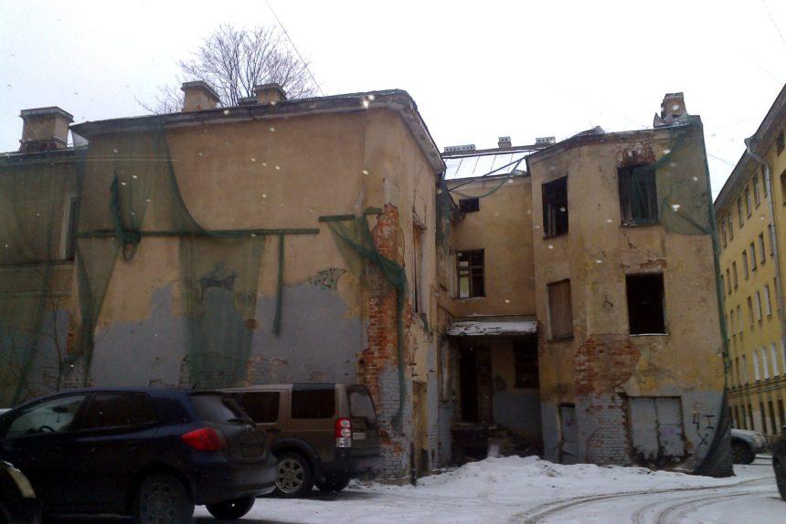 заброшенное историческое здание Ропшинская 10
