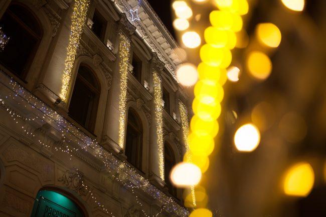 невский проспект подсветка праздник новый год рождество гостиный двор новогодние украшения