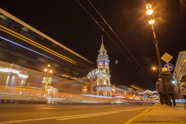 невский проспект подсветка праздник новый год рождество дорога новогодние украшения