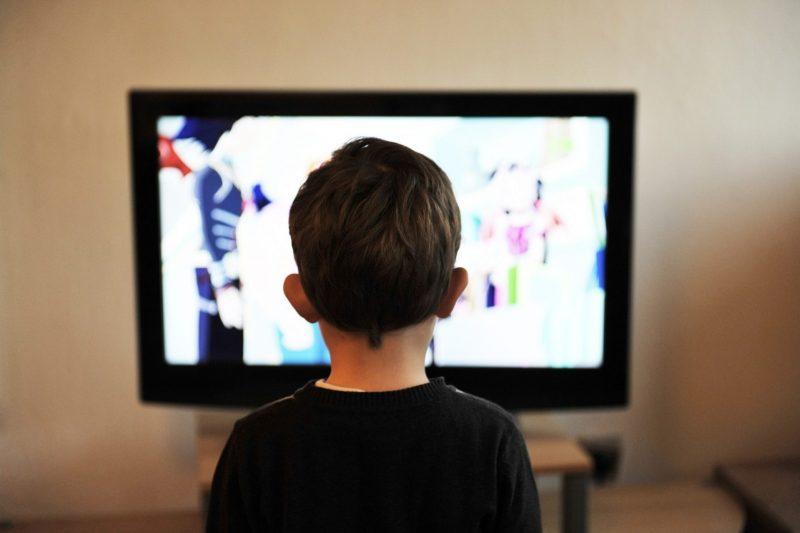 телевизор, ребенок, зомби, экран
