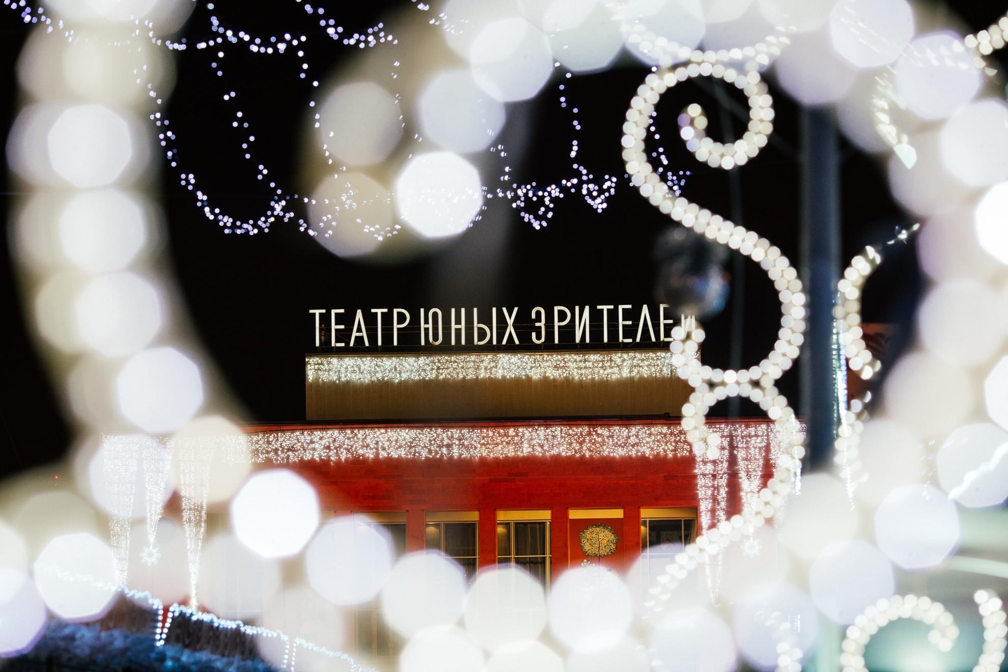ТЮЗ, зима, новогодние украшения