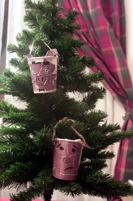новогодние украшения своими руками рукоделие свиные вёдрышки