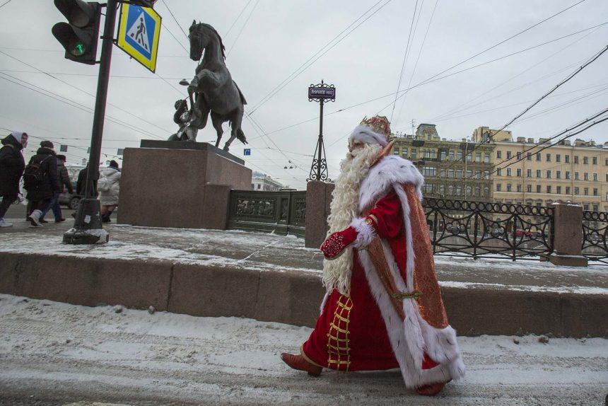 Всероссийский Дед Мороз Аничков мост