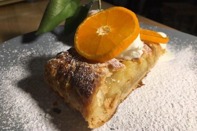 еда мандарины пирог штрудель