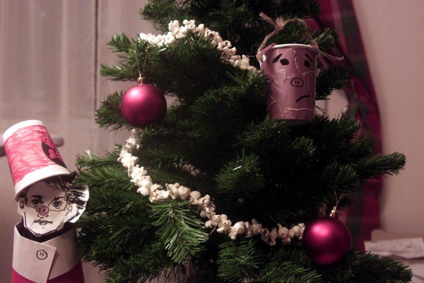 новогодние украшения своими руками рукоделие свиньи из фольги ёлка