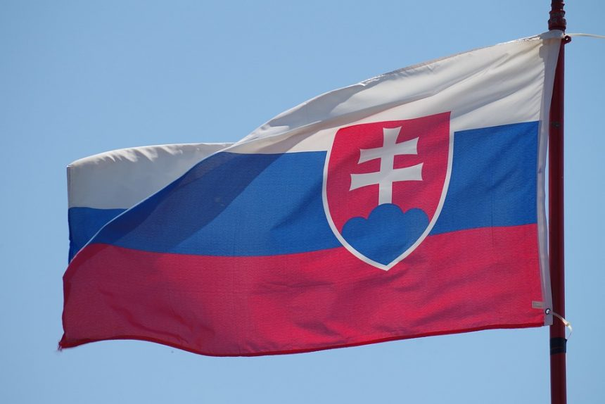 словакия, флаг