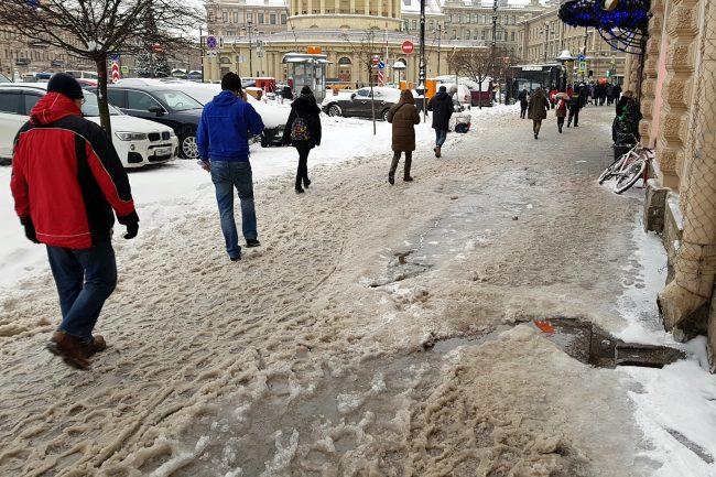 зимняя уборка снега сугробы гололёд