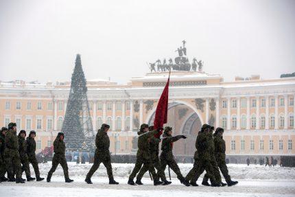 репетиция парада ко дню снятия блокады 27 января солдаты армия